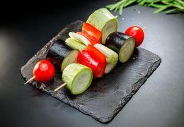 Овощи гриль (кабачок, баклажан, перец, помидор, сельдерей)