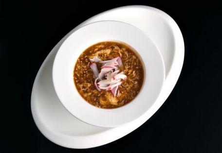 Густой суп со снежным крабом